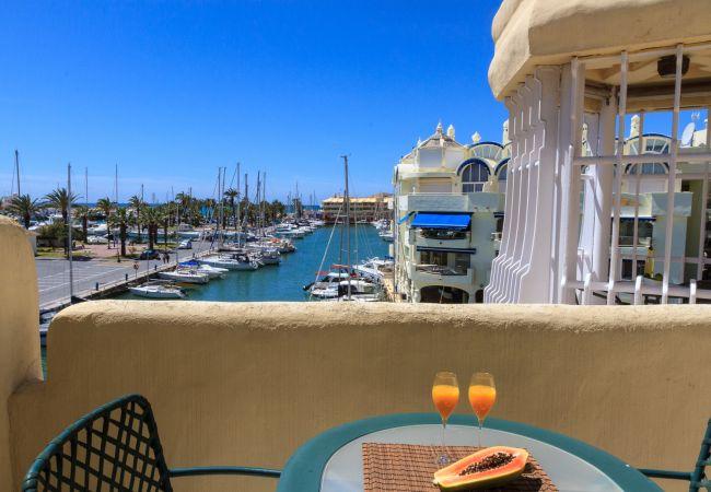 Apartment in Benalmadena - Puerto Marina - 2 terraces and direct view to the Marina